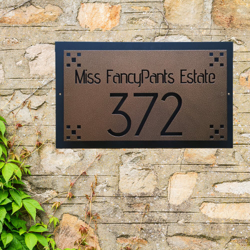Address Sign with Backing plate and Standoffs (O27)