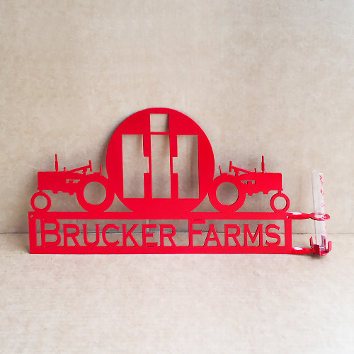 Personalized Dual Tractor – International Harvester Rain Gauge (A31)