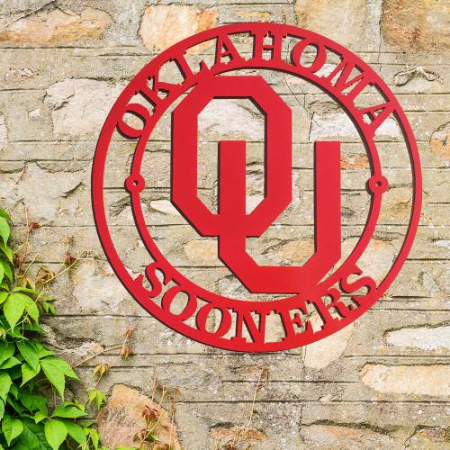 Oklahoma Sooners Logo Wall Art  (B44)