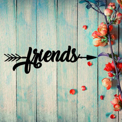 Friends Arrow Wall Art (B51)