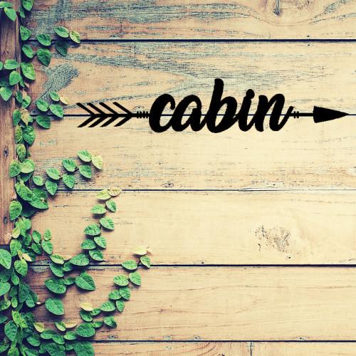 Cabin This Way! Metal Wall Art (B53)
