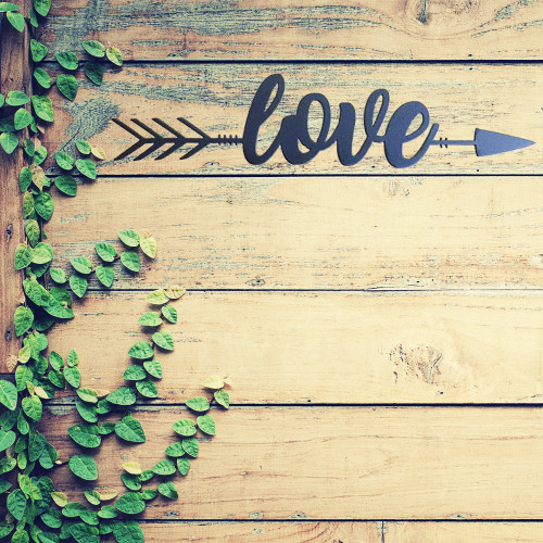Love Metal Arrow Wall Art (B54)