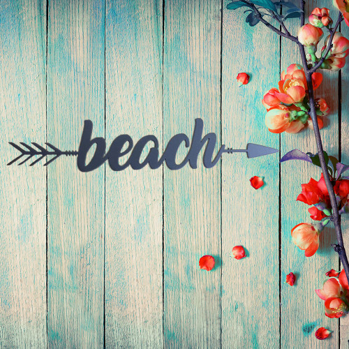 Beach Metal Arrow Wall Art (B59)