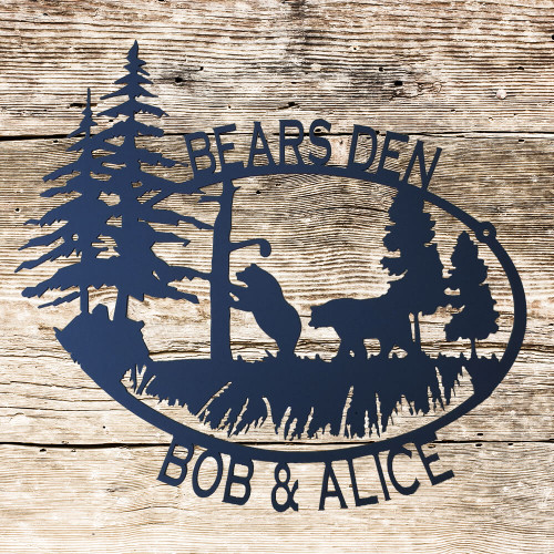 Personalized Bears & Tree Sign (A35)