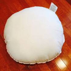 "15"" Round Synthetic Down Pillow Form"
