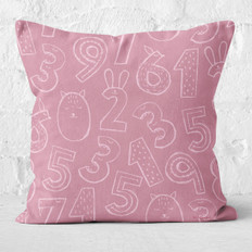 Lavender with Numbers Throw Pillow