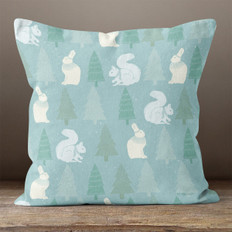 Light Blue Arctic Nature Throw Pillow