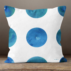 White Deep Ocean Dots Throw Pillow