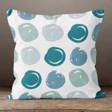 Sea Foam Circles Throw Pillow