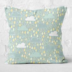 Grey Rainy Days Throw Pillow
