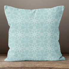 Blue Geometric Pattern 2 Throw Pillow