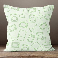 Green Modern Living Throw Pillow