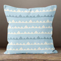 Blue with Mountains Throw Pillow