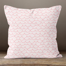 Light Pink with Scallops Throw Pillow