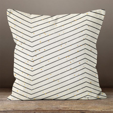 Black & Cream Large Chevron Throw Pillow