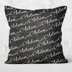 Black Believe Throw Pillow
