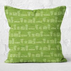 Green Christmas Presents Throw Pillow