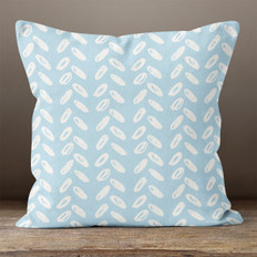 Blue with White Abstract Ovals Throw Pillow