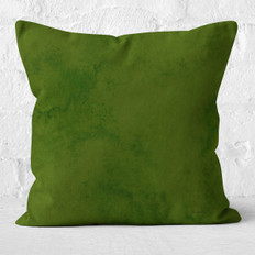 Green Emerald Watercolor Wash Throw Pillow