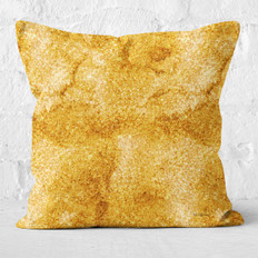 Gold Glitter Print Throw Pillow