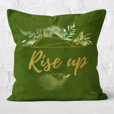 Green Watercolor Rise Up Throw Pillow