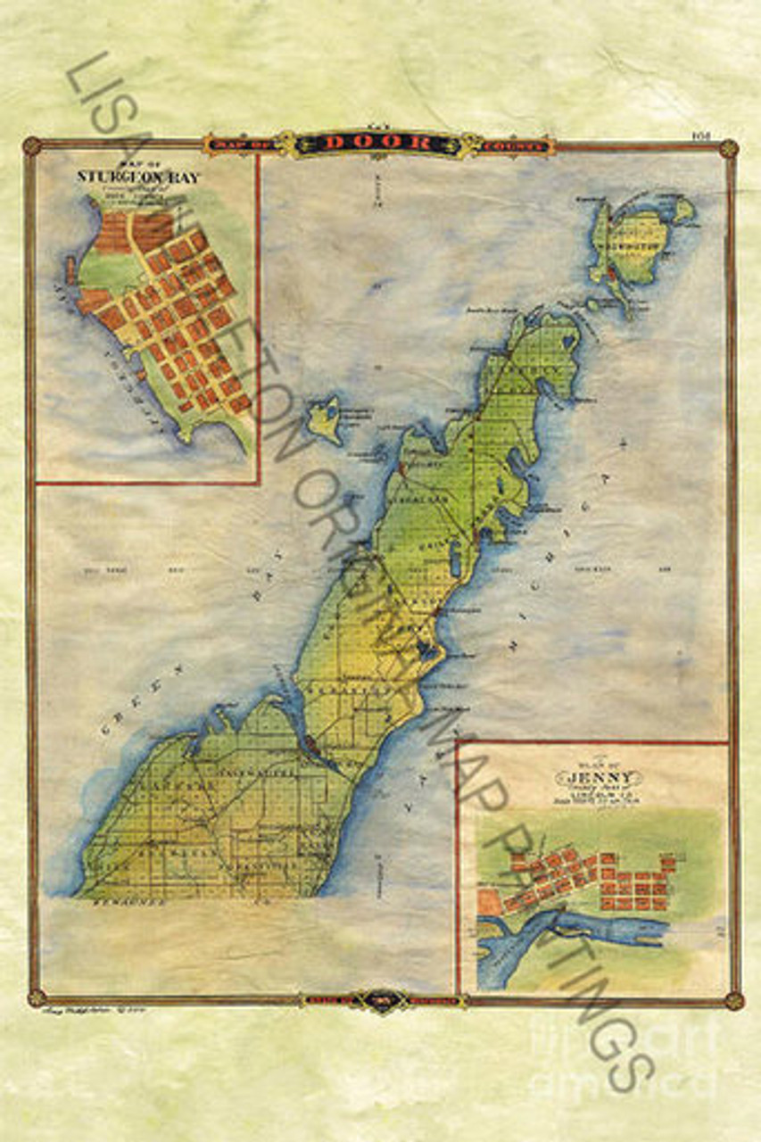 It is a graphic of Massif Door County Map Printable