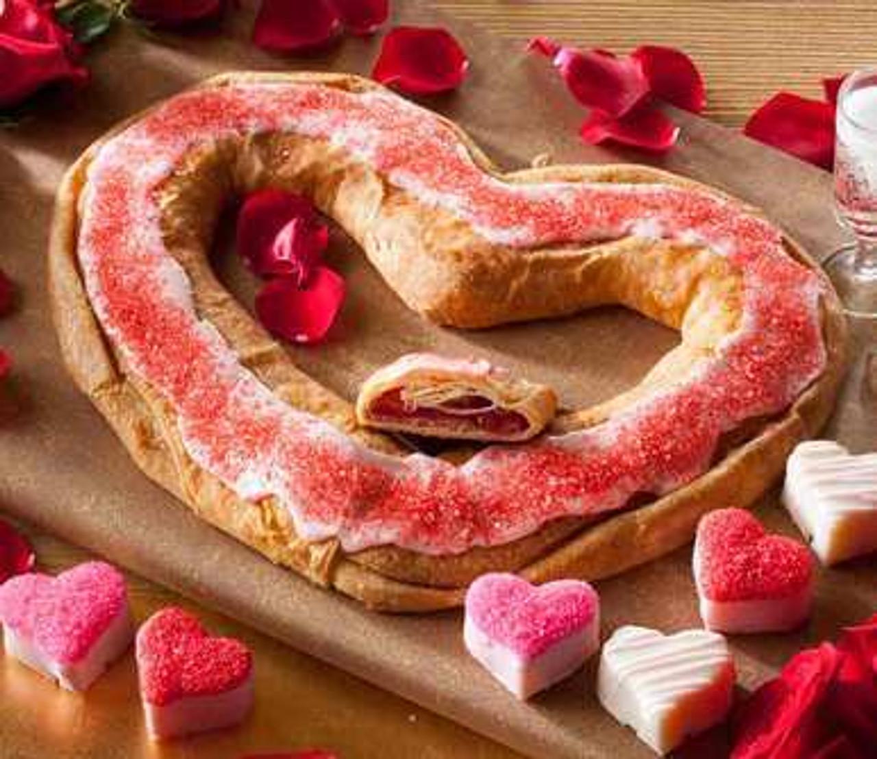 Valentine Kringle with Petit Four Hearts | O&H Danish Bakery