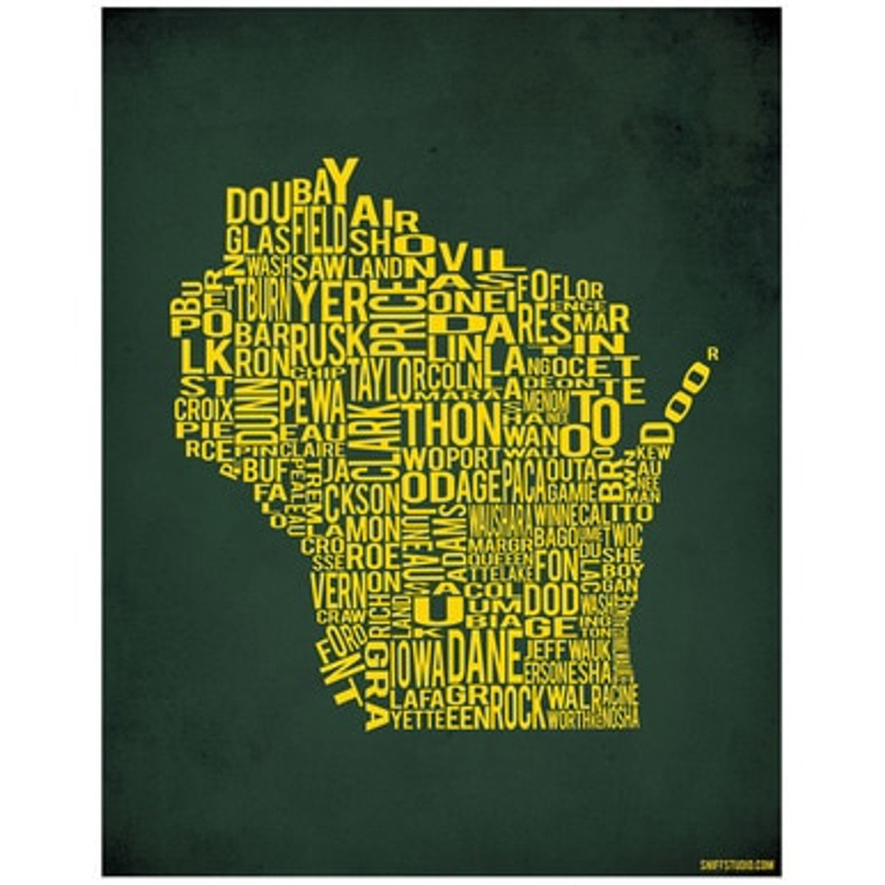 Art Print - Wisconsin by County | Sniff Studio