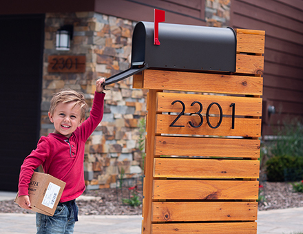 Fun packages in our Modernist Mailbox