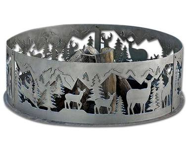 Wildlife Decorative Fire Ring Whitetail Deer