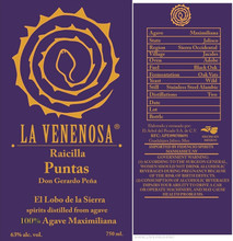 La Venenosa, Raicilla Puntas 750ml