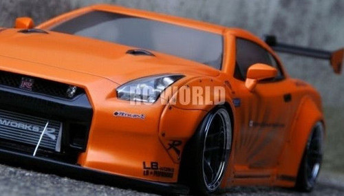 1/10 RC Car Body Shell NISSAN SKYLINE GT-R R35 LB Performance DRIFT BODY