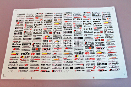 RC Car Truck RACING Drift DECALS STICKERS Logos Sponsors
