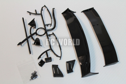 RC 1/10 RC Car Accessories -WING SPOILER -MIRRORS - WIPERS