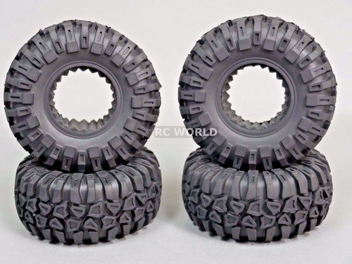 "2.2 Tires Rock CRAWLER TIRES Wheels 130mm 5.1"" W/ Foam Inserts -Set Of 4-"