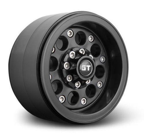 RC 1/10 TRUCK Rims Wheels 2.2 BEADLOCK Rock Crawler Wheels GT02 (2 RIMS) Black