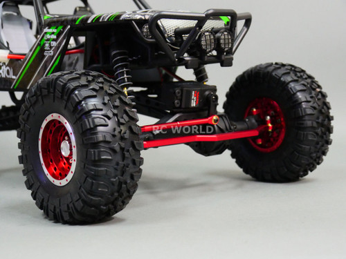 Axial Wraith, Scorpion Front ALL Metal STEERING LINK - BLUE
