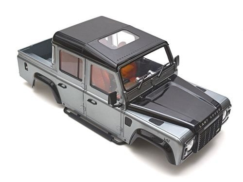 RC 1/10 LAND ROVER DEFENDER 110 PICKUP W/ INTERIOR Scale Hard Body  +  SNORKEL