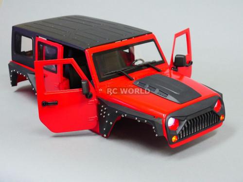 xial RC Scale Truck Body Shell 1/10 JEEP WRANGLER RUBICON Hard Body V 3
