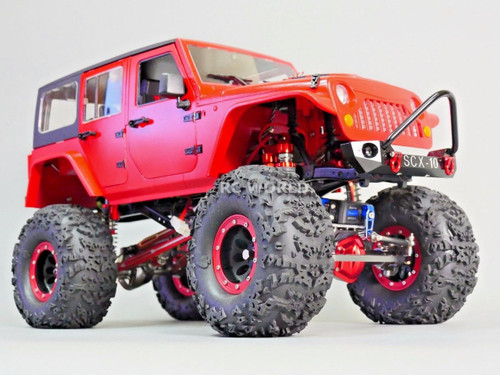 xial RC Scale Truck Body Shell 1/10 JEEP WRANGLER RUBICON Hard Body +  ROLL BARS