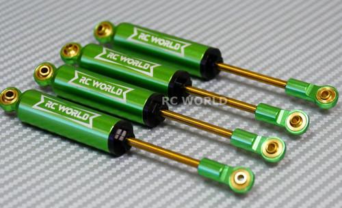 RC 1/10 TRUCK Suspension 110 MM Internal SHOCK ABSORBER Aluminum GREEN <SET OF 4