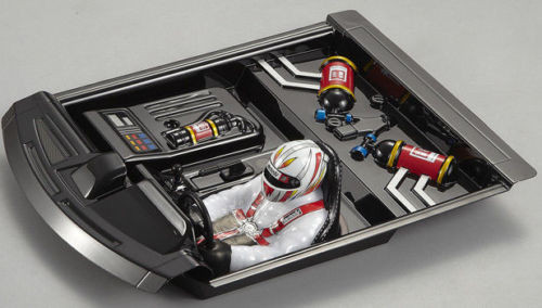 1/10 INTERIOR COCKPIT DRIVER Front Engine w / Nitrous For Car Bodies