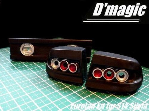 D'Magic 1/10 RC Car REAR LIGHT BUCKETS For NISSAN  Yuroteru S14 -Painted
