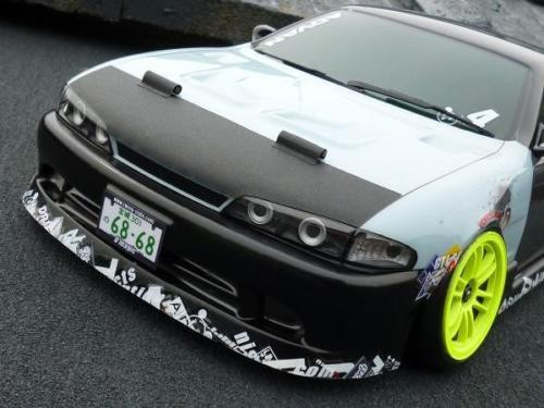 D'Magic 1/10 RC Car FRONT LIGHT BUCKETS For S14 KOUKI NISSAN Silvia -Painted