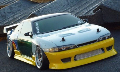 D'Magic 1/10 RC Car FRONT LIGHT BUCKETS For NISSAN Yuroteru S14 -Painted