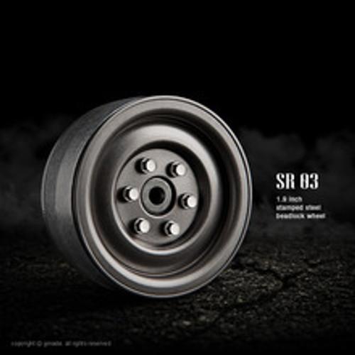 1.9 SR03 beadlock wheels (Uncoated steel) (2)
