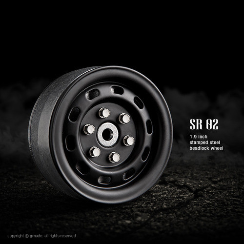 1.9 SR02 beadlock wheels (Matt black) (2)