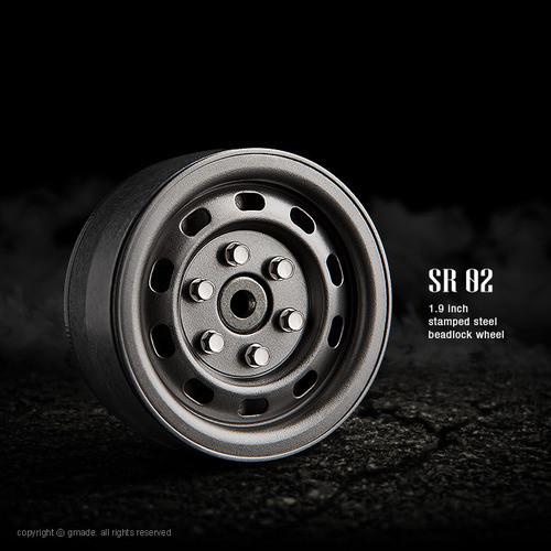 1.9 SR02 beadlock wheels (Uncoated steel) (2)