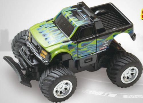 RC 1/58 Radio Control MICRO RC Truck BAJA RACER 4X2 w/ Suspension Green Truck