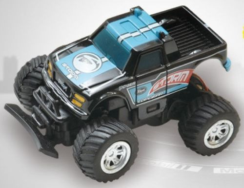 RC 1/58 Radio Control MICRO RC Truck BAJA RACER 4X2 w/ Suspension Blue Truck